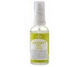 Lavosept Citron dezinfekce kůže gel pro profesionální použití více jak 75% alkoholu 50 ml rozprašovač