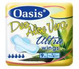 Oasis Ultra Wings Deo Aloe Vera ultra tenké parfémované hygienické vložky s křidélky 9 kusů