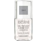 Gabriella Salvete Nail Care Gel 2v1 Top and Base Coat gelový vrchní lak na nehty 11 ml