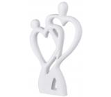 Emocio Dřevěná dekorace srdce pár bílá 120 x 20 x 200 mm