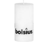 Bolsius Rustic svíčka bílá válec 68 x 130 mm