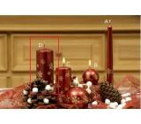 Lima Vločka svíčka vínová válec 60 x 120 mm 1 kus