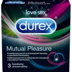 Durex Mutual Pleasure kondom Nominální šířka: 56 mm 3 kusy