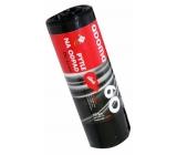 QDoma Sáčky do odpadkového koše silné černé 60 litrů, 60 x 80 cm, 28mic, 10 kusů