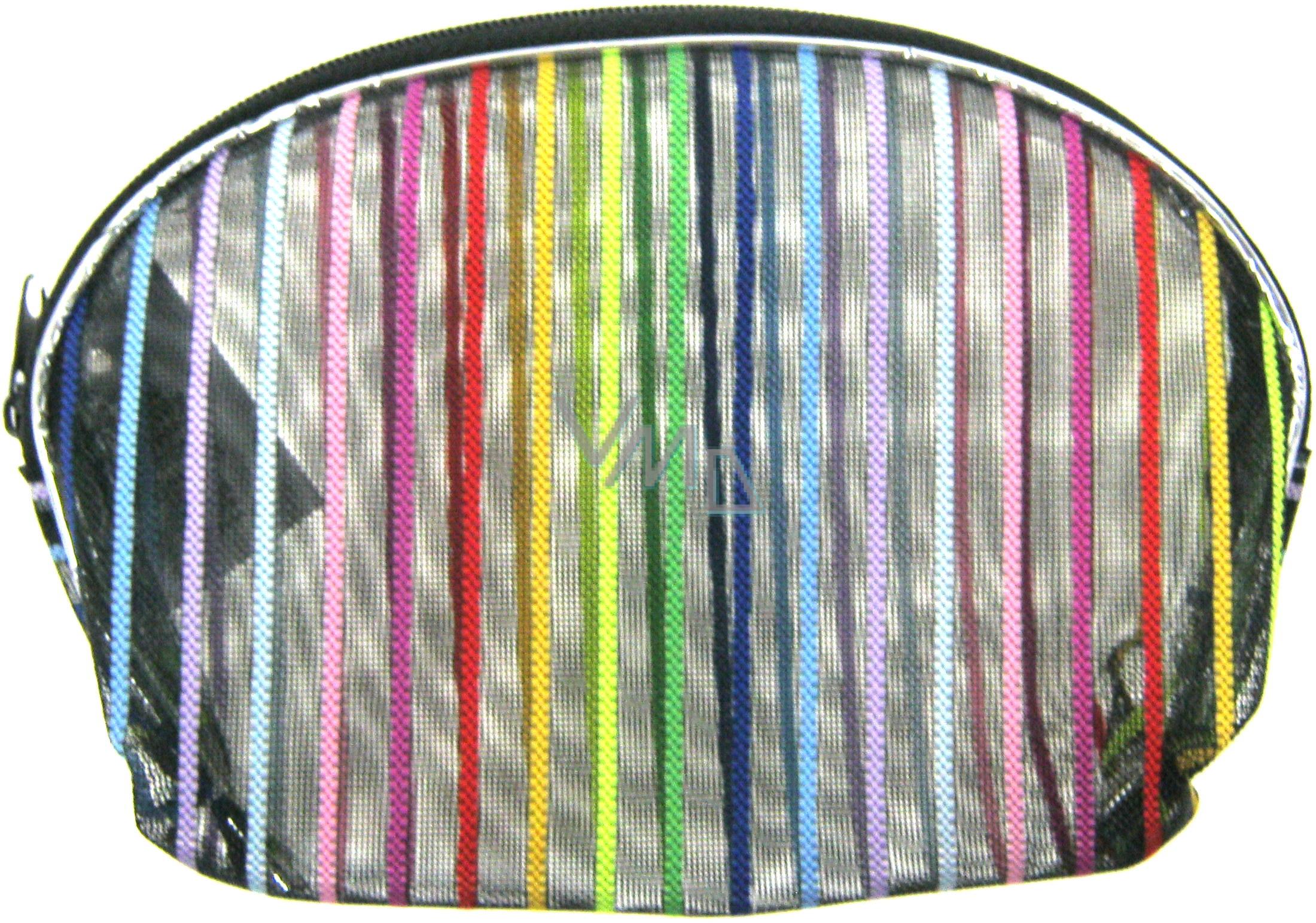 Etue Průhledná - barevný proužek 7 x 8 x 1 cm 70150 1 kus