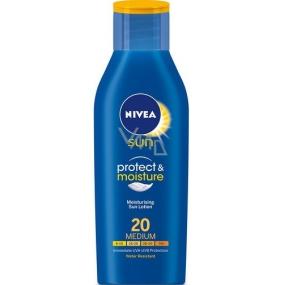 Nivea Sun Protect & Moisture OF20 hydratační mléko na opalování střední ochrana 400 ml