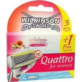 Wilkinson Quattro for Women Papaya & Pearl náhradní hlavice 4 kusy