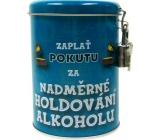 Nekupto Pokladnička na pokuty Zaplať pokutu za nadměrné holdování alkoholu 10,5 x 7,5 cm 1 kus