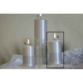 Lima Stuha svíčka perlová válec 60 x 120 mm 1 kus