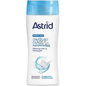 Astrid Fresh Skin osvěžující čisticí pleťové mléko pro normální a smíšenou pleť 200 ml