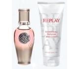 Replay True Her parfémovaná voda 20 ml + tělové mléko 100 ml dárková sada pro ženy