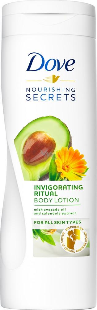 Dove Nourishing Secrets Povzbuzující rituál tělové mléko s avokádovým olejem a extraktem z měsíčku lékařského 250 ml