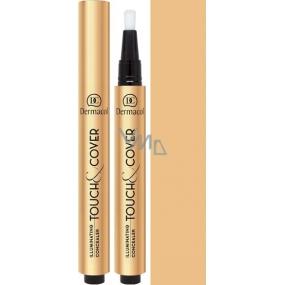 Dermacol Highlighting Click Concealer Touch & Cover rozjasňující korektor v peru 02 3 ml