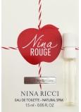 DÁREK Nina Ricci Nina Rouge toaletní voda pro ženy 1,5 ml s rozprašovačem, vialka