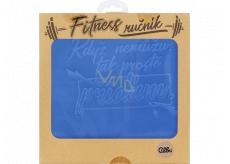 Albi Fitness ručník Když nemůžu modrý 90 x 50 cm