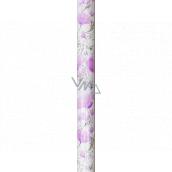 Nekupto Dárkový balicí papír 70 x 150 cm Fialové květy 995 40