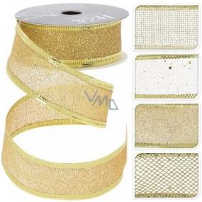 Stuha zlatá mix 2700 x 25 mm