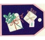 Nekupto Vánoční kartičky na dárky Dva dárky 5,5 x 7,5 cm 6 kusů