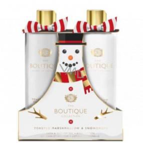 Grace Cole Toasted marshmallow & Snowdrops - Toastový marshmallow a sněženky sprchový gel 500 ml + tělové mléko 500 ml, kosmetická sada