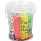 Creall Křídová samotvrdnoucí modelína 6 barev kyblík