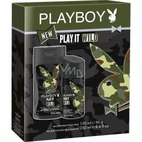 Playboy Play It Wild for Him deodorant spray pro muže 150 ml + sprchový gel 250 ml, kosmetická sada
