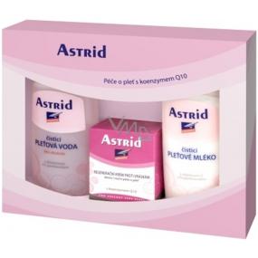 Astrid Intensive pleťové mléko 200 ml + čisticí pleťová voda pro suchou a citlivou pleť 200 ml + regenerační krém proti vráskám s Q10 50 ml, kosmetická sada