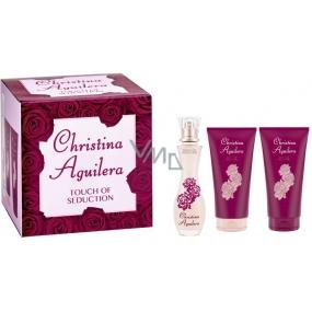 Christina Aguilera Touch of Seduction parfémovaná voda pro ženy 30 ml + sprchový gel 50 ml + tělové mléko 50 ml, dárková sada