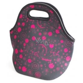 Albi Original Termo svačinová taška Růžové květy, Uchová potraviny déle teplé/studené, 30 × 27 × 18 cm