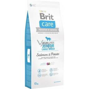 Brit Care Grain-free Junior Large Breed Salmon & Potato bezobilné krmivo pro štěňata a mladé psy velkých plemen 12 kg