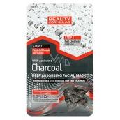 Beauty Formulas Charcoal Deep Absorbing Facial Mask pleťová maska s černým uhlím 13 g