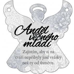 Albi Závěsná plaketka anděl Anděl věčného mládí 9 x 10 cm