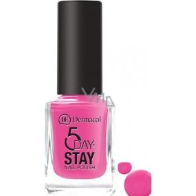 Dermacol 5 Day Stay Dlouhotrvající lak na nehty 35 Pink Ride 11 ml