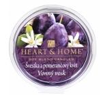 Heart & Home Švestka a pomerančový květ Sojový přírodní vonný vosk 27 g