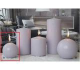 Lima Ice pastel svíčka světle fialová koule 80 mm 1 kus
