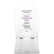 Nafigate Cosmetics Pearly Nourishing vyživující maska s perličkami vitamínu E pro unavenou pleť 40+ 50 ml