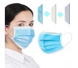 Rouška 3 vrstvová Premium netkaná jednorázová lékařská ochranná, nízký dýchací odpor 1 kus