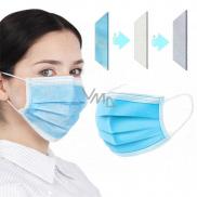 3 vrstvová Premium netkaná jednorázová lékařská ochranná rouška nízký dýchací odpor 1 kus