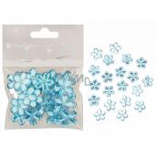 Kytičky samolepicí modré 2 cm 20 kusů