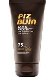 Piz Buin Tan & Protect SPF15 ochranné mléko urychlující proces opalování 150 ml