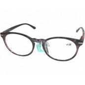 Berkeley Čtecí dioptrické brýle +2,0 plast fialovohnědé, kulaté skla 1 kus MC2171