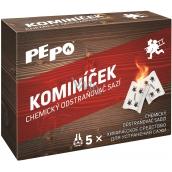 Pe-Po Kominíček chemický odstraňovač sazí z komínů a kouřovodů 5 kusů x 14 g