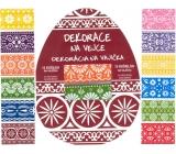 Fólie na vejce ornamenty barevné, 12 ks v balení (smršťovací košilky)