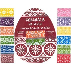 Fólie na vejce ornamenty barevné, 12 kusů v balení (smršťovací košilky)