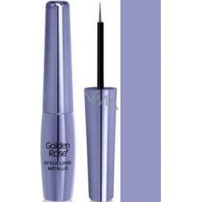 Golden Rose Style Liner Metallic Eyeliner tekuté oční linky 05 fialová 6,5 g