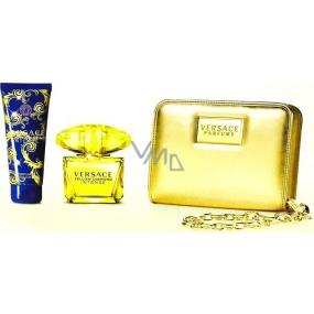 Versace Yellow Diamond Intense parfémovaná voda 90 ml + tělové mléko 100 ml + zlatá kabelka, dárková sada