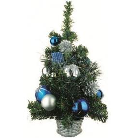 Stromek v košíku modrý dekor 45 cm