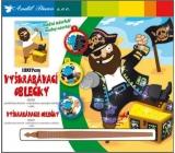 Vyškrabávací oblečky Pirát 18 x 15,5 cm