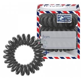 Invisibobble Letter From Grey limitovaná edice Sada Gumička do vlasů tmavě šedá spirálová 3 ks