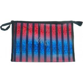 Etue Červeno-modro-černé pruhy 27 x 18 x 7 cm 70270