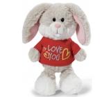 Nici Love You Králík v tričku Plyšová hračka - nejjemnější plyš 20 cm